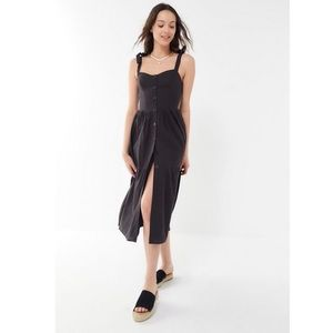 UO Positano Tie-Shoulder Midi Dress Size Large